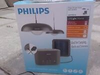 Philips Hanging Solar Lights Camping Tent Shed Solar Panel Charges Battery Pack with USB Port