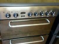 Indesit silver ceramic cooker