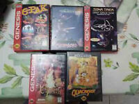 Sega Genesis Games castle of illusion 6-pak stormlord LIQUIDATE!