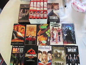 Collection of VHS Movies