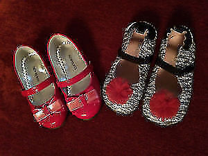 LIKE NEW! (2) Pairs Toddler Girl Dress Shoes - Size 6