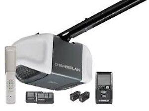 Garage Door opener: Chamberlain; myQ; 1/2hp belt: installed $309