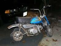 wanted.  Honda z50 or ct70 parts bikes.