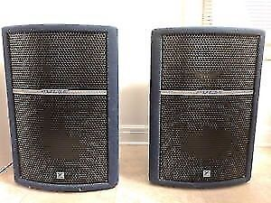 pulse powered speakers 2 18s in each cab