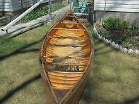 RIB and PLANK Construction Fiberglass Canoe NEVER USED
