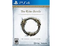 Selling or Trading My Elder scrolls online PS4