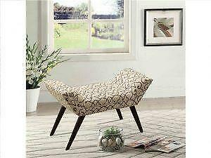 Printed  Single Sleigh Bench on Sale in Toronto (BD-2641)