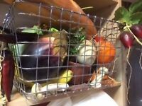 Panier silimi fruits légumes décoratif crémaillère veronneau