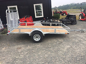 """CLEARANCE SALE on remaining 2016 66""""x123"""" Galvanized Trailers"""