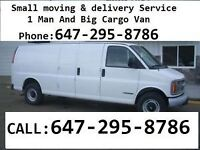 Small Moves And Delivery, 1 Man and Van, Cheap Movers ----------