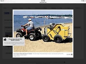 NEW CHERRINGTON 800 BEACH SWEEPER / SEED BED STONE PICKER