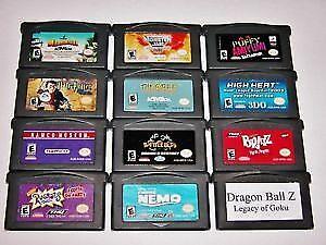 Rare Nintendo Gameboy game cartridges used