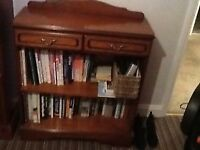 Small solid Cherrywood executive style bookcase