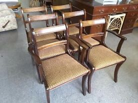XMAS SALE NOW ON!! Set Of 6 Dining Chairs Reupholstered By The RGFs Restoration Team