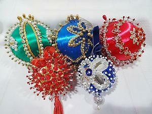 beaded satin christmas ornaments