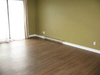 2 bdrms, vinyl plank floors. Hot water & 1 parking included.