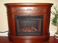 large electric fireplace, in excellent condition - beautiful, mo
