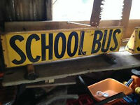 vintage school bus sign