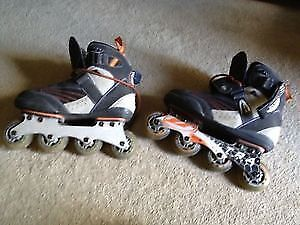 Summer sports - mens roller blades / fishing rods