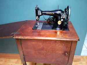 Antique Singer Sewing Machine with Cabinet