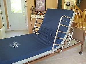 Hospital Bed with Mattress and Side Rails