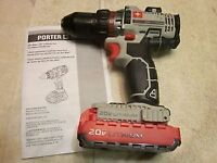Porter Cable 20v Lithium Drill/Driver with Battery - Great Cond.
