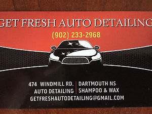 GET FRESH AUTO DETAILING 474 WINDMILL RD. DARTMOUTH