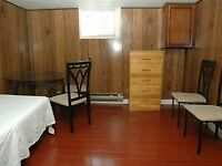 Renovated basement furnished room to rent