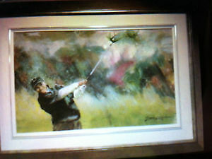 TIGER WOODS GOLF PAINTING BY GERMAIN GRATTON