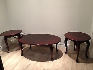 Queen Anne Style Coffee and End Tables