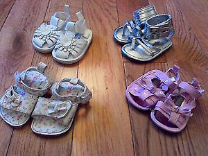 Baby Girl Sandals (Sizes 1 and 2) --Great Condition!