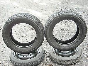 P195/60R15....winter tires...........ON RIMS..... Kitchener / Waterloo Kitchener Area image 1