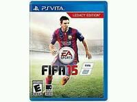Ps Vita game. Fifa 2015 legacy edition