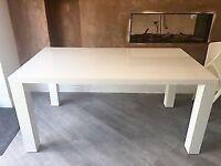 Habitat Aspen White Gloss Dining Table Seats 4-6