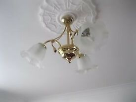 TWO CEILING AND THREE WALL LIGHT FITTINGS FROM JOHN LEWIS