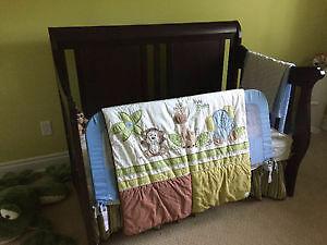Convertible Sleigh Crib and matching Dresser!!! Peterborough Peterborough Area image 1
