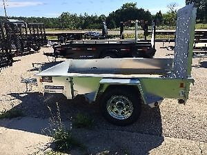 2016 SURE TRAC 5 X 8 FT GALVANIZED HIGH SIDE