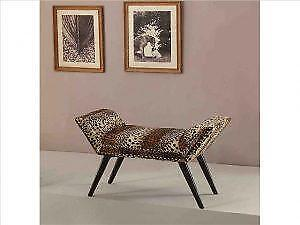 Leopard Print Single Sleigh Bench on Sale in Toronto (BD-2642)