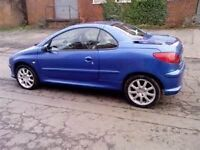 2001/51 Peugeot 206 cc Convertible, Full Mot, 80000 Miles, Warranty,S/H,Stunning Condition,Hpi Clear