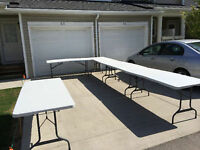Tables & Chairs - for Rent