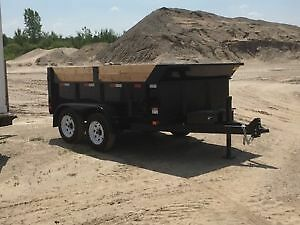 3.5 ton dump trailer for rent, junk removal, material delivery..