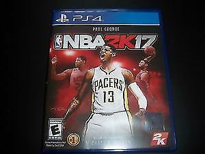 NBA 2K17 PS4 NBA2K17 PlayStation4 with Disc/Manual/Case LIKE NEW