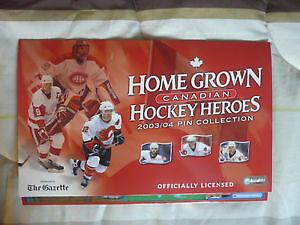 Home Grown Canadian Hockey Heroes 2003/2004 Pin Collection