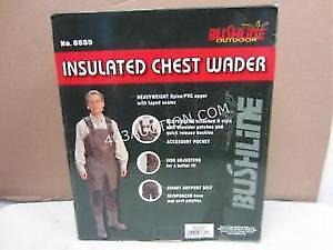 """BUSHLINE CHEST WADERS SIZE 10 """"""""""""NEW IN BOX"""""""""""""""