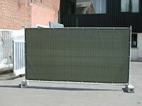 NEW 10 x Heras style fencing panels tarpaulins