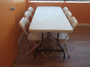 QUANTITY OF LIFETIME COMMERCIAL 6 FOOT NESTING FOLDING TABLES