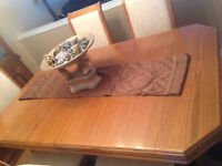 Wooden Dining Table Plus 6 Chairs - $450 or best offer