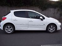 Peugeot 207 2012 White 1.4 Sportium 5 dr Quick Sale £3100