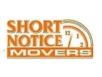 SHORT NOTICE MOVERS ☆LOCAL/LONG DISTANCE @ 416-999-2843