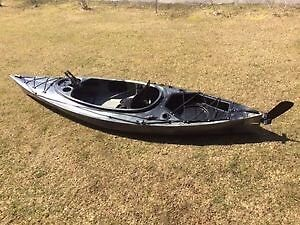 Riot Quest 10 HV fishing kayak with rudder system camo colour